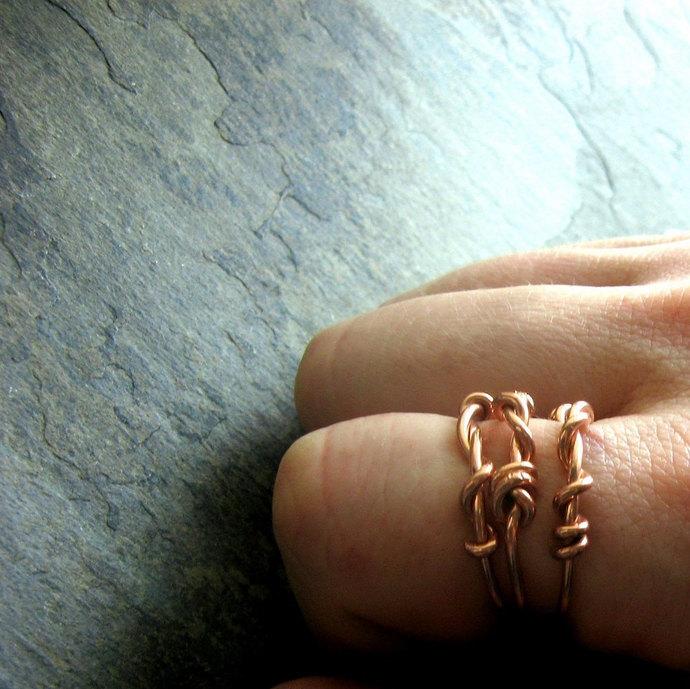 twist stack-- custom ring set-- primitive series-- handmade by thebeadedlily