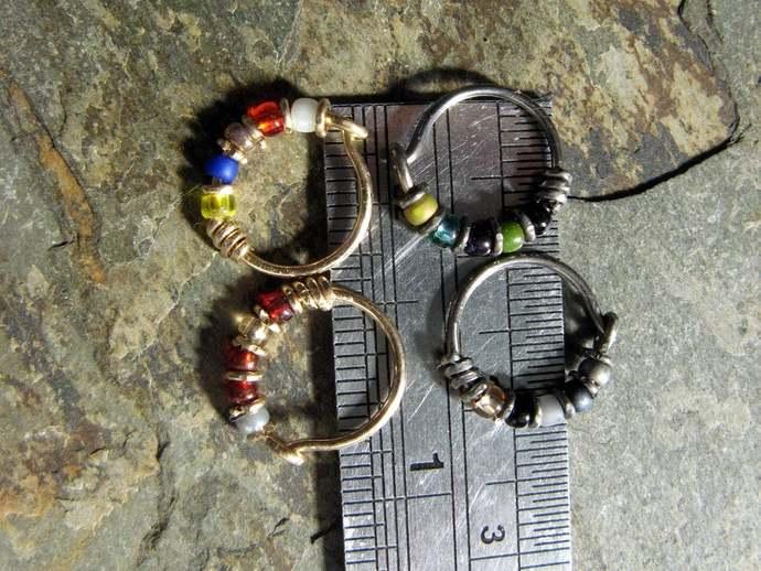 thor hoop-- superhero nose ring or hoop earring-- handmade by thebeadedlily