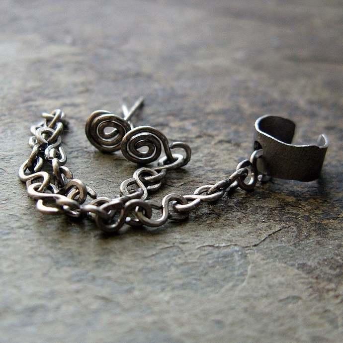 minimalist helix set, helix cuff set, earring cuff set, cuff earring set, helix