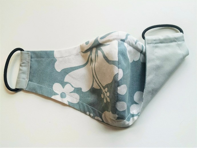 Face Mask - Reversible (Sage & Cream Hawaiian with Solid Sage)