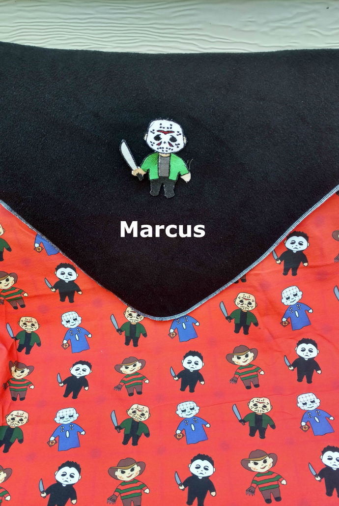 Michael Myers Baby blanket - Personalized name - Unique horror baby shower gift