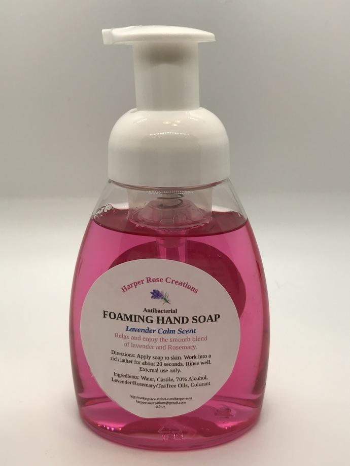 HAND SOAP, Lavender Calm, Foaming, Antibacterial, Natural, Homemade, Free