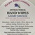 HAND WIPES, Lavender Calm, Antibacterial, Natural, Pack of 10, Homemade, Free