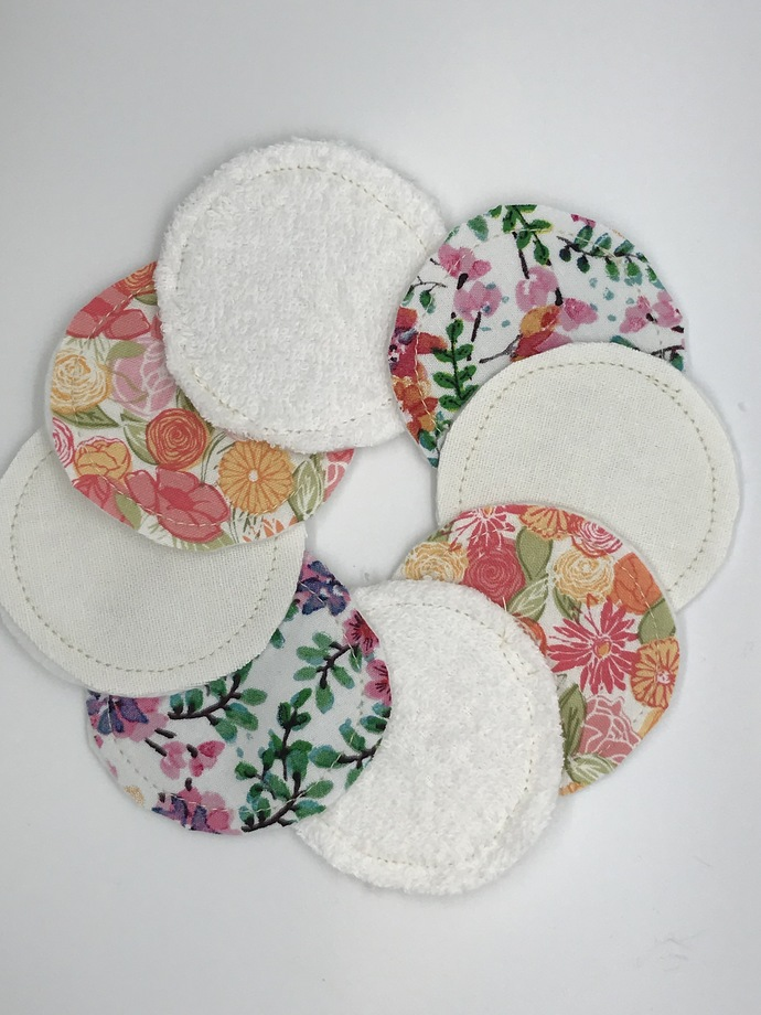 HAND WIPES, MAKE-UP REMOVER PADS, Reusable, 100% Cotton, Pack of 10, Washable,