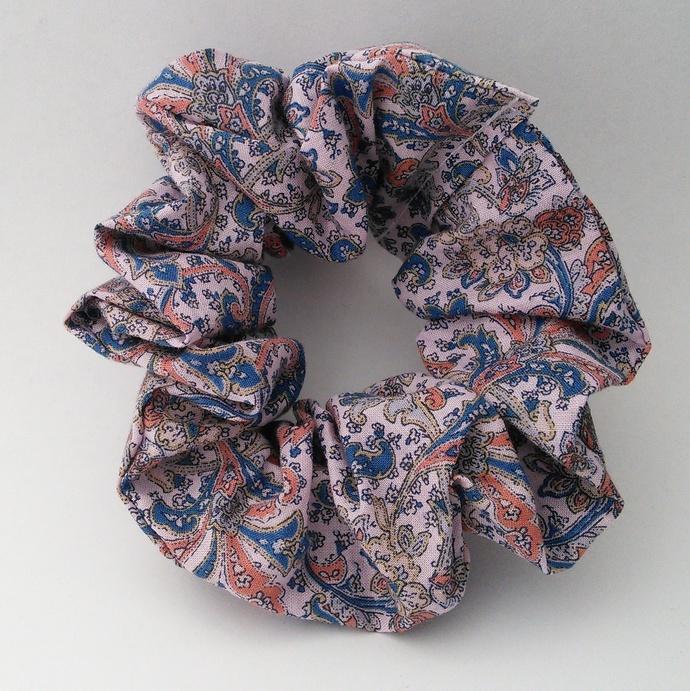 Scrunchie Paisley Style Upcycled Fabric