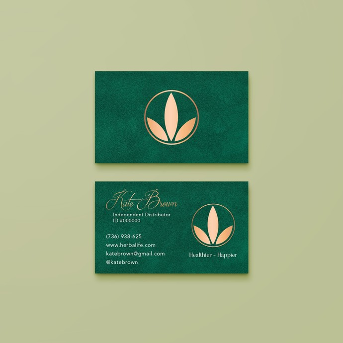 Herbalife Business Card, Personalized Herbalife Business Card HL01