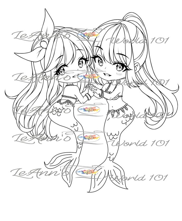 Mermaid Sisters - Digital Image