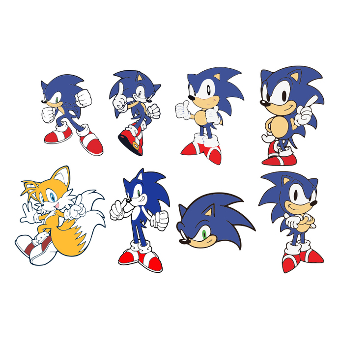 12 Sonic Svg Vector Clipart Sonic Hedgehog By Bellastore Svg On Zibbet