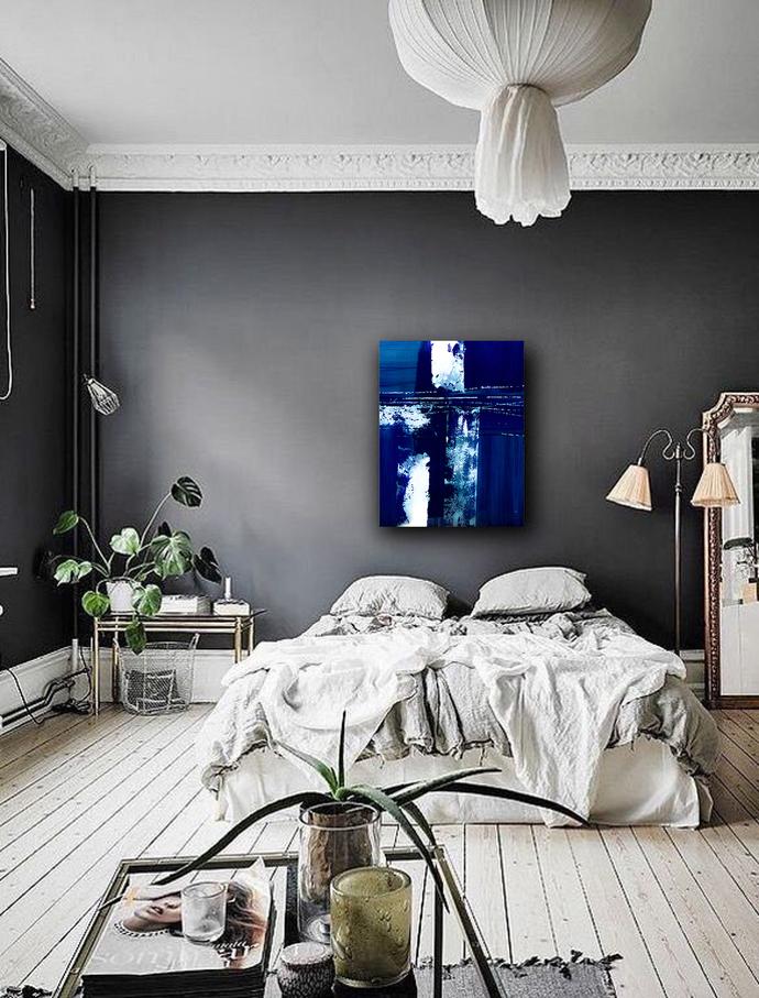 Wall Art blue, Abstract Wall Art, Abstract , Blue Print, Scandinavian Design,