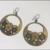 1970's Enamel hoop flower pierced earrings!