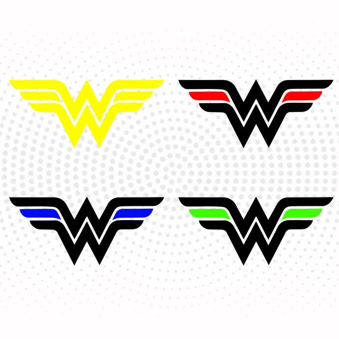 Wonder Woman Logo SVG, PNG, DXF Cricut, Silhouettes, Scrapbooking, Card Making,