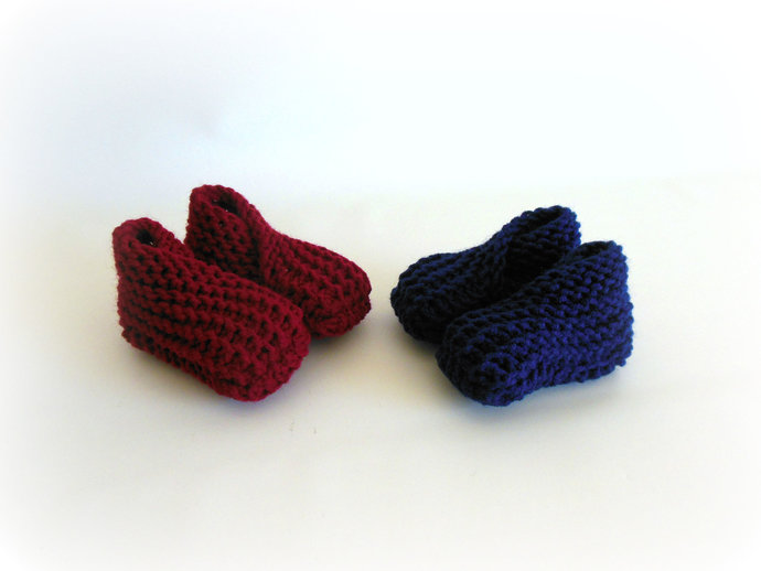 RTS Knit 0-3mth Infant Booties, Baby Socks, Infant Slippers, Infant Shoes in