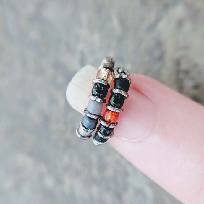 batman hoops-- tiny superhero hoop earring set or single-- handmade by
