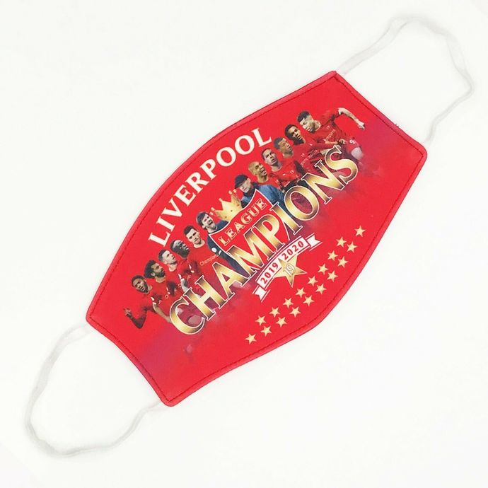 liverpool face mask, lfc soccer double filtered face mask, machine washable,