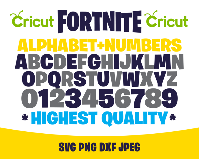 Fortnite Alphabet Svg Fortnite Alphabet By Sweetdigital On Zibbet