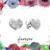 Pave Heart Studs - CZ Studs - Minimal Jewels - Dainty Studs - Diamond Earrings