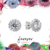 Halo Solitaire Studs - Minimal Jewels - Dainty Studs - Diamond Earrings -