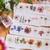London Gifties original design - Pressed Flowers VII - 4cm wide Japanese washi