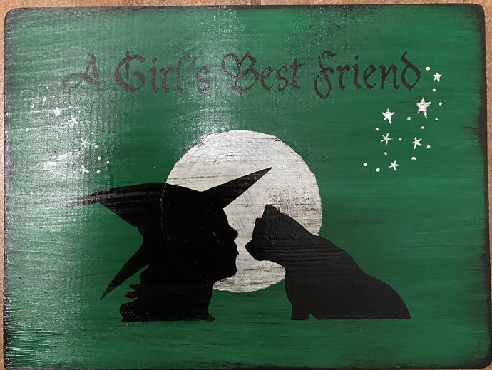 Primitive Witch signs cats A girl's best friend sign witchcraft witches