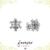 Snowflake Studs - Minimal Jewels - Dainty Studs - Diamond Earrings - Minimalist