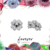 Four Leaf Clover Studs - Minimal Studs - Zircon Studs - Stud Earrings - Flower