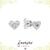 Heart Studs - Minimalist Earrings - Small Earrings - CZ Silver Studs - Tiny