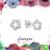 Open Flower Studs - Small Earrings - CZ Silver Studs - Tiny Stone Earrings - CZ