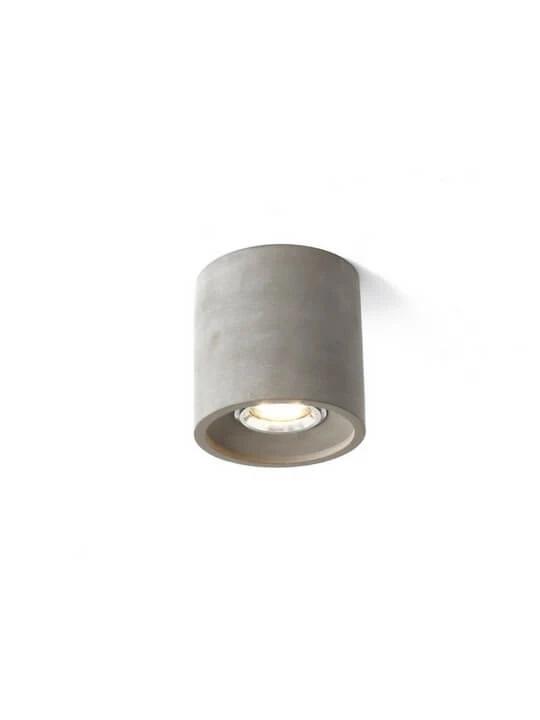 GREY LED CONCRETE CEILING MOUNTED LIGHT   BALCONY LAMP