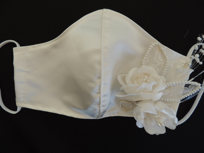 Duchess Bridal Satin Wedding Face Covering