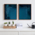 Wall Art set of 2 dark blue, Abstract Wall Art, Abstract diptych navy , Blue