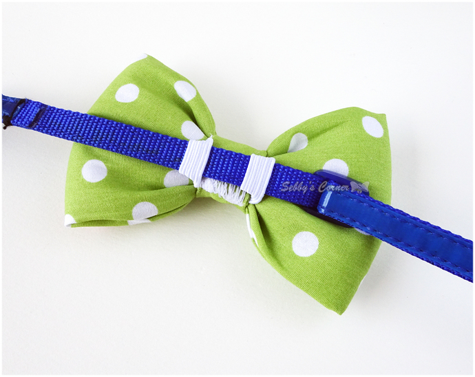 Light Green Polka Dot Bow Tie, Pet accessories, Bow ties for cats, Cotton