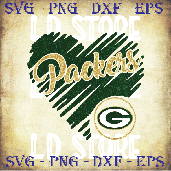 Packers Glitter Heart svg, Green Bay Packers Team svg, Packers Svg, Packers