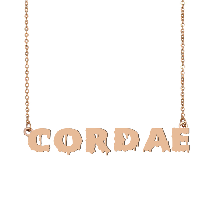 Custom Cordae Name Necklace Personalized Gift for Halloween Easter Christmas