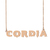 Custom Cordia Name Necklace Personalized Gift for Halloween Easter Christmas