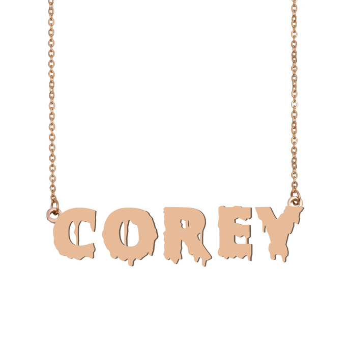 Custom Corey Name Necklace Personalized Gift for Halloween Easter Christmas