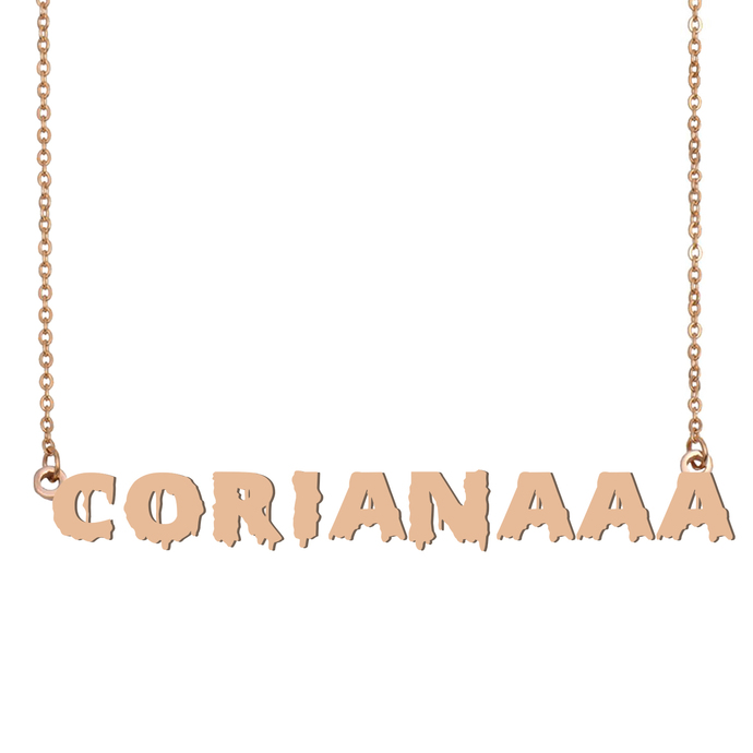 Custom Corianaaa Name Necklace Personalized Gift for Halloween Easter Christmas