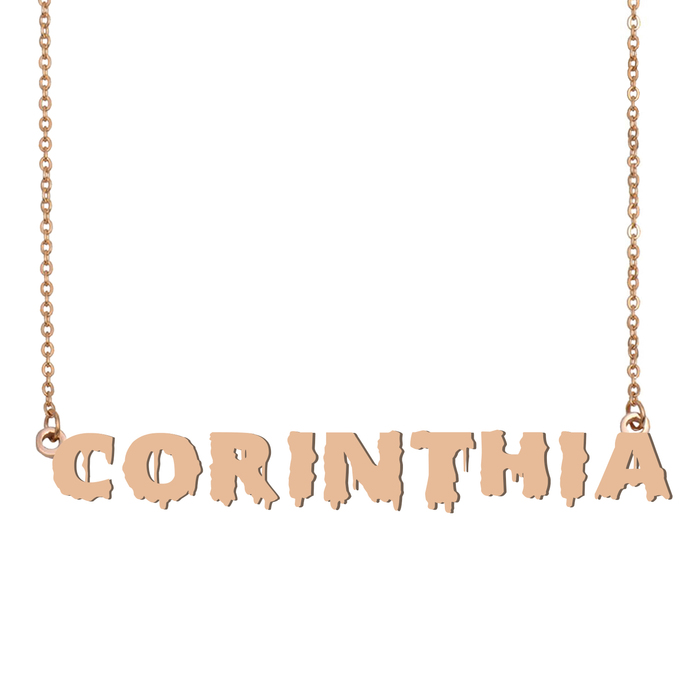 Custom Corinthia Name Necklace Personalized Gift for Halloween Easter Christmas
