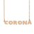 Custom Corona Name Necklace Personalized Gift for Halloween Easter Christmas