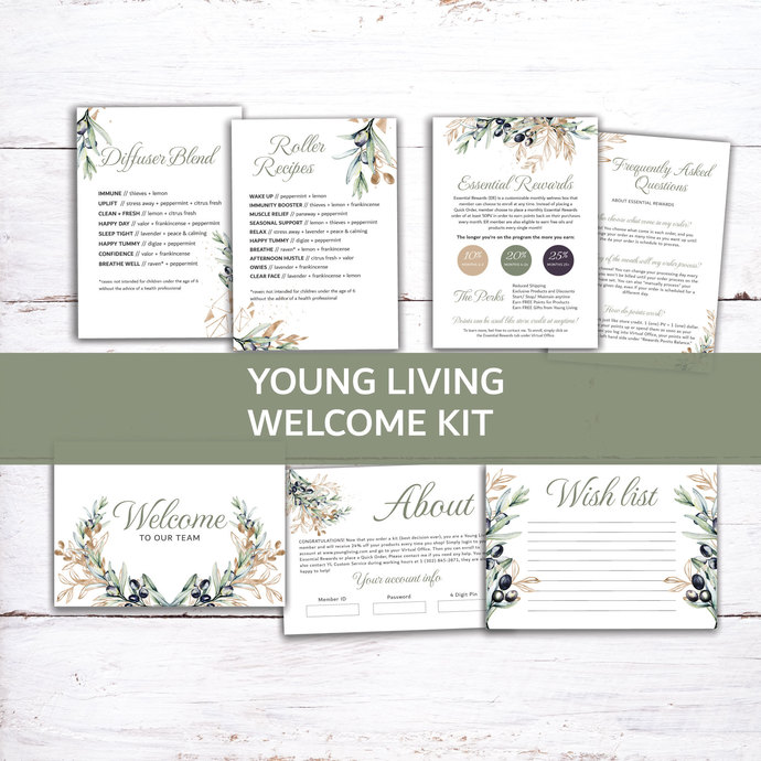 Olive Young Living Member Welcome Kit, New 2019 Essential Oils Starter Kit