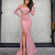 Pink prom Dresses Satin Formal Gown For Women