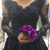 Navy Blue Lace Long Sleeve Prom Dress With Lace Appliqued Beaded, Long Evening