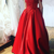 Off The Shoulder Long Red Prom Dress