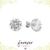Flower Solitaire Studs - Cocktail Studs - Diamond Earrings - Minimalist Earrings