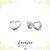 Open Heart Studs - Silver Studs - Minimal Earrings - Dainty Studs - Delicate