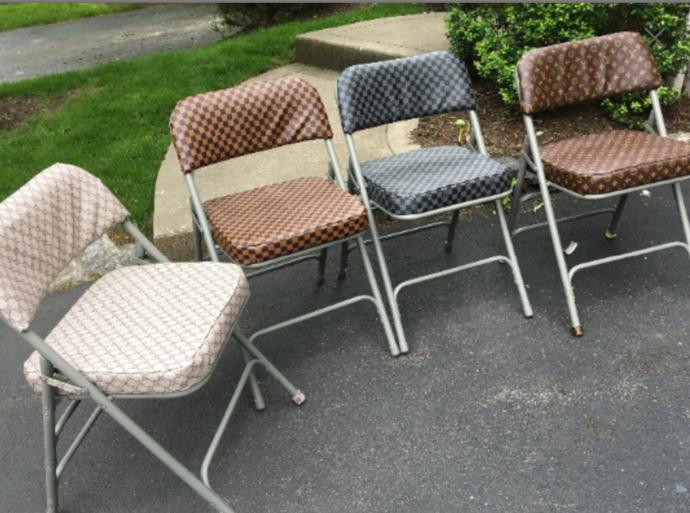 Designer Repuposed Folding Chair