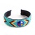 Native Style Loom Beaded Cuff Bracelet - Turquoise With Medicine Wheel Design