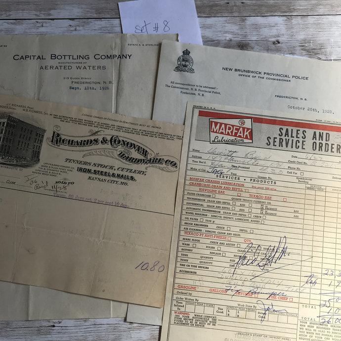 Antique/Vintage Receipts/memo/Letter Set#8