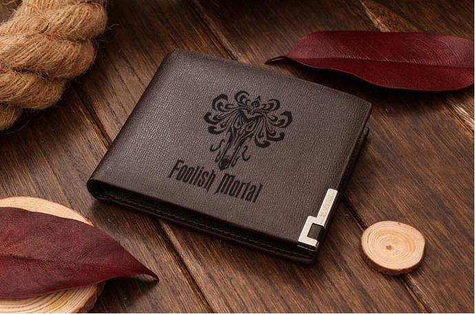 Foolish Mortal  Leather Wallet