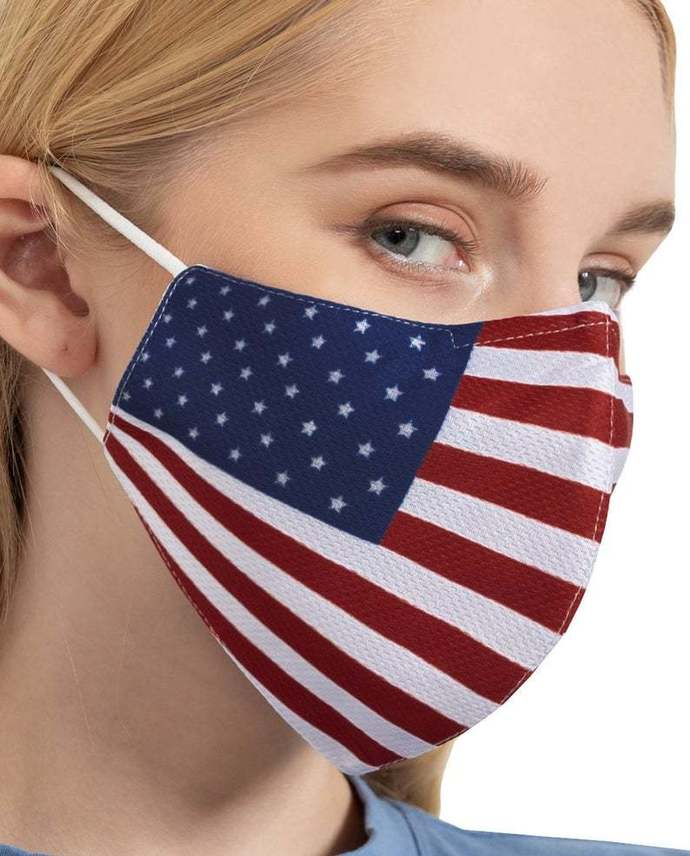 Reusable Protection Face Cover Nose Wire Mask, American Flag Face Mas,  Washable