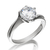 8mm Swirl Solitaire Ring